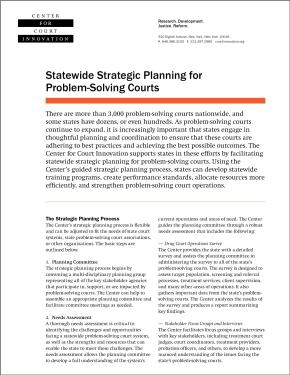 Fact Sheet: Statewide Strategic Planning for Problem-Solving Courts