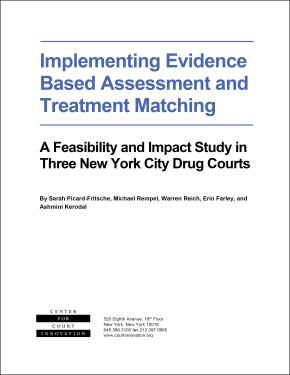 Implementing Evidence Based Assessment and Treatment Matching: A Feasibility and Impact Study in Three New York City Drug Courts