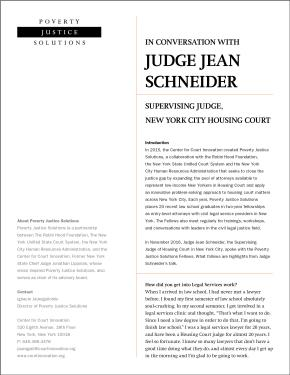 In Conversation with Judge Jean Schneider