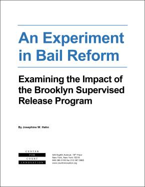 cover page an experiment in bail reform
