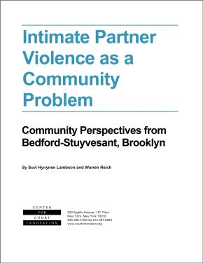 Intimate Partner Violence as a Community Problem: Community Perspectives from Bedford-Stuyvesant, Brooklyn