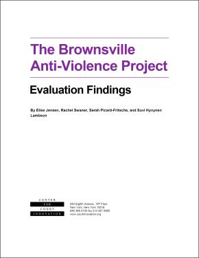 The Brownsville Anti-Violence Project: Evaluation Findings