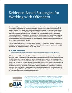 Evidence-Based Strategies for Working with Offenders